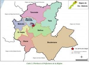 Carte Région Fès Meknès