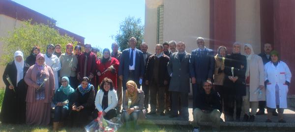 """Participantes à la cérémonie """"la journée internationale de la femme  2015"""" au CRRA Meknès"""