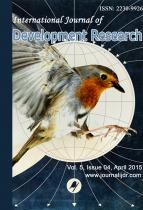 International journal of development research, April 2015