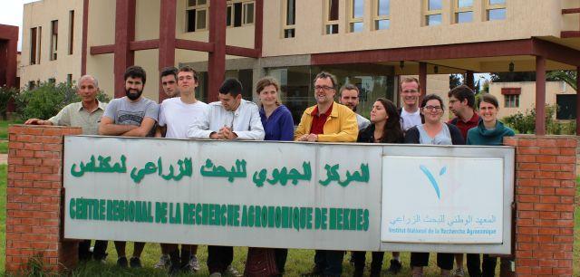 Visite au CRRA Meknès des étudiants l'IRHS Angers (France), 28 sept-2015