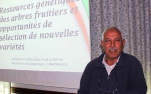 Ali Mamouni, chercheur en amélioration génétique des arbres fruitiers et Chef du SRD-CRRA Meknès