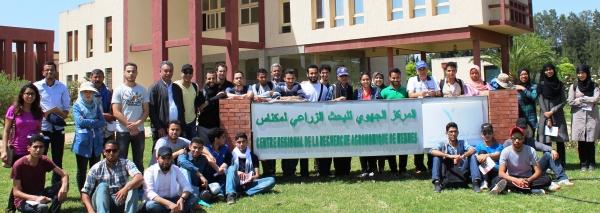 EtudiantEs du Complexe Horticole d'Agadir en visite au CRRA Meknès, 24 mai 2016