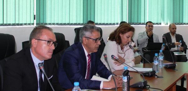 Présidence du sémianire (A. Bentaïbi/Chef CRRA Meknès, R. Dahan/SG INRA, A. El Alami/DDFP)