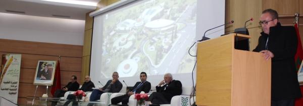 Dr A. Bentaïbi animant la séance douverture du sémianaire devant un pannel de présidence où lINRA est représenté par Dr R. Mrabet Chef de la Division Scientifique