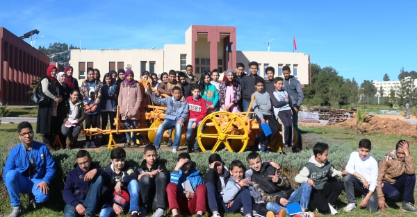 Elèves du collège Allabib en visite au CRRA Meknès, 28 mars 2018