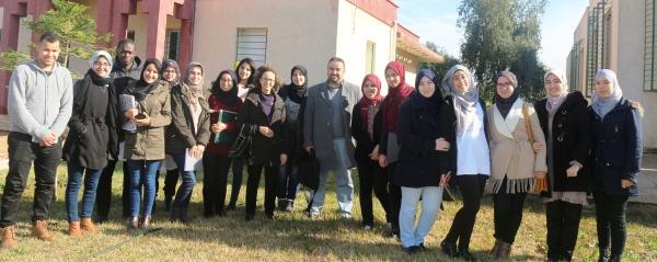 Visite au CRRA Meknès des étudiantEs de l'ENA Meknès, 08 mars 2018