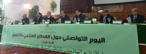 Présidence de la Journée de communication sur le secteur agricole dans la Province d'Ifrane (Ifrane le 11 avril 2018)