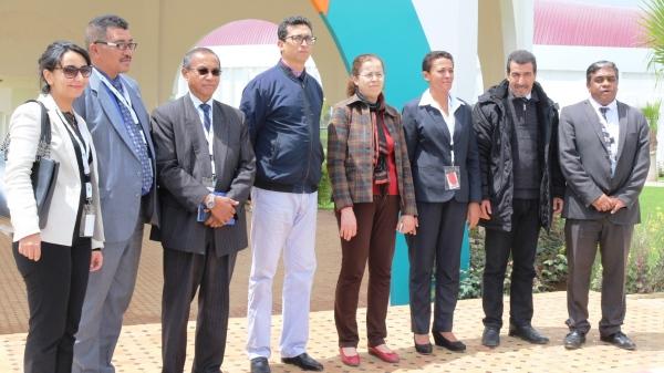 Délégation Malgache visitant les locaux de l'INRA au Qualipole Alimentation de Meknès, 26 avril 2018