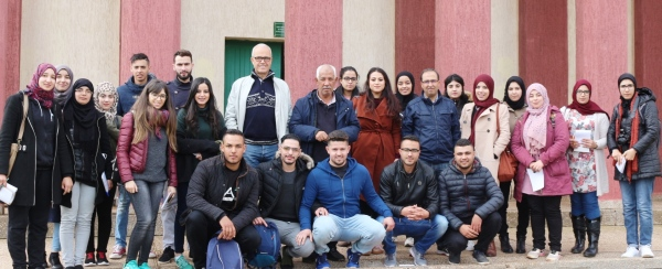 EtudiantEs de la factulté des Sceinces d'Oujda (Master IHP) en visite en CRRA Meknès, 25 avril 2018