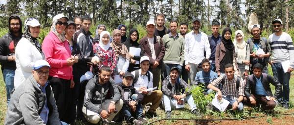 Les étudiants de la FS Meknès en visite au Domaine Expérimental d'Aïn Taoujdate, 29 mai 2018