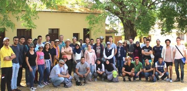 EtudiantEs du Complexe Horticole d'Agadir en visite au DE Aïn Taoujdate (au CRRA Meknès), 11 juil. 2018