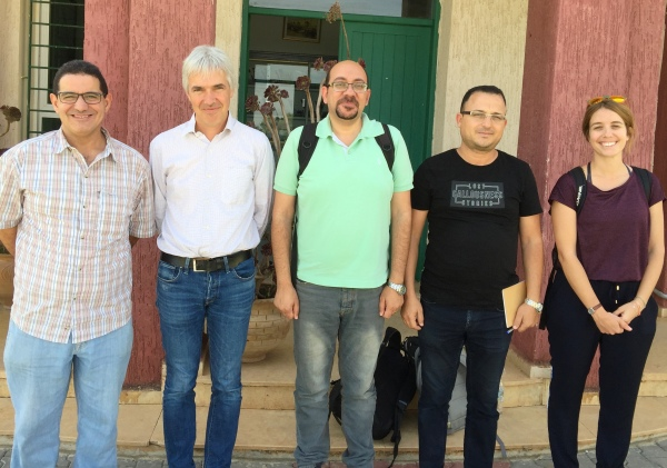 Visite de délégation de l'Univ de Kassel d'Allemagne au CRRA Meknès - 20 sept 2018 (de la gch : K. Daoui, T. Plieninger, P. Riad, R. Razouk et CQ Soriano).