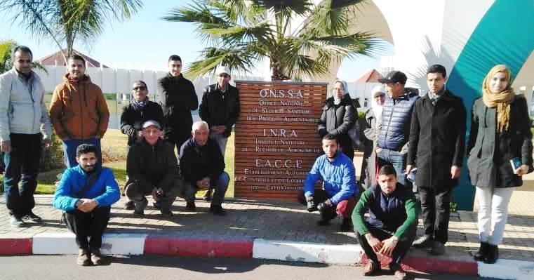 Les cadres de la Chambre d'Agriculture de la région Sous Massa en visite au CRRA Meknès, 7-9 janvier 2019