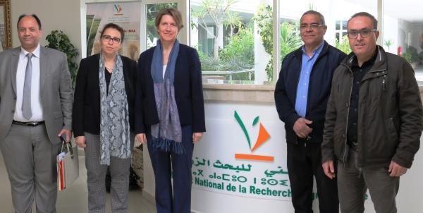 Visite de délégation canadienne au siège de l'INRA au Qualipole Alimentation de Meknès, 22 mars 2019