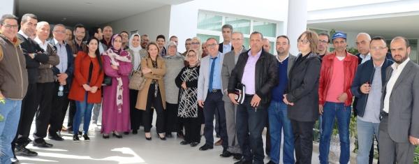 Photo avec une partie du staff du CRRA Meknès