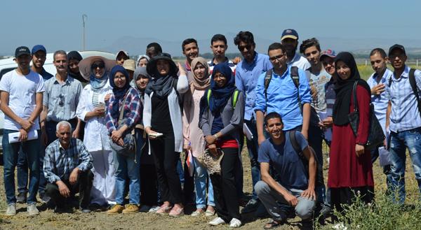 EtudiantEs en Master de la Faculté des Sciences de Meknès au Domaine Expérimental Douiyet-CRRA Meknès, 15 mai 2019