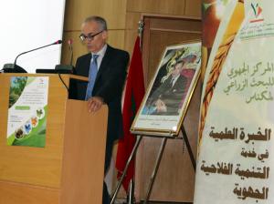 Dr Faouzi Bekkaoui (Directeur INRA) donnant l'ouverture de la journée