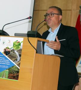 Dr Abderrahim Bentaïbi (INRA - CRRA Meknès) co-présidant l'ouverture de la conférence