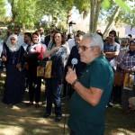 Mr Mohamed Lehlou (Chef du domaine) donnant une présentation générale du DE Aïn Taoujdate