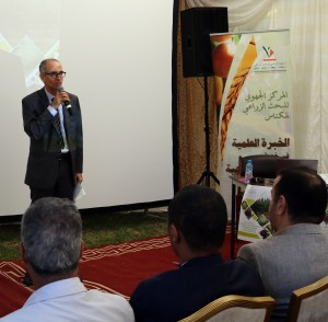 Dr Faouzi Bekkaoui, Directeur de lINRA, donnant le mot d'ouverture de la journée