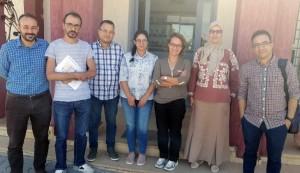 Equipe du projet (de la gch) : H. Iaaiche (CRRA Rabat), A. El Bakkali (CRRA Meknès), R. Razouk (CRRA Meknès), K. Habbadi (CRRA Meknès), S. Iraqui El Houssaini (CRRA Meknès), K. Bouhafa (CRRA Meknès) et A. Bajoub (ENA Meknès).