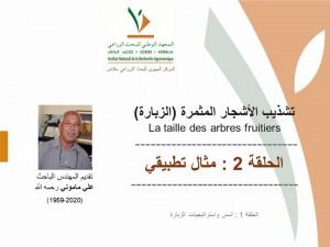 Episode 2 : Démonstration pratique de la taille des arbres fruitiers. Par Feu Ali Mamouni (INRA - CRRA Meknès et Al Fallah TV, 2020)