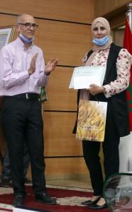 Deuxième prix du meilleur poster attribué à la doctorante Imane Saghouri El Idrissi (INRA Meknès – FS Kénitra)